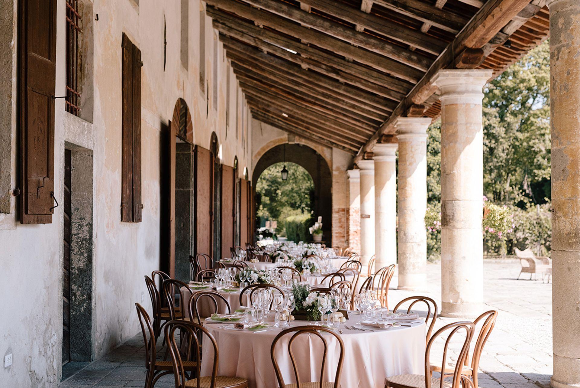 Pranzo di nozze in villa a Padova