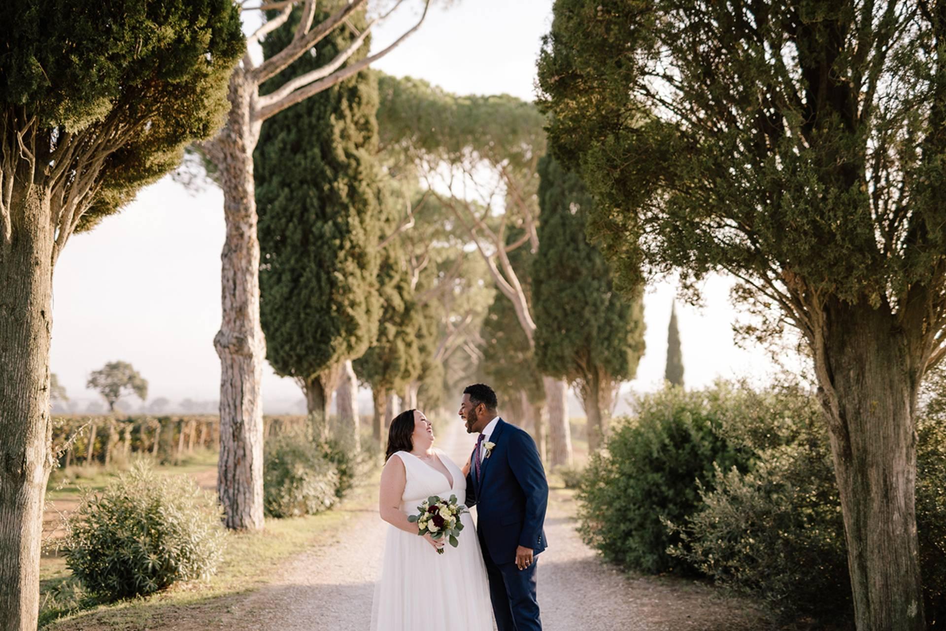 Tuscany countryside wedding photo